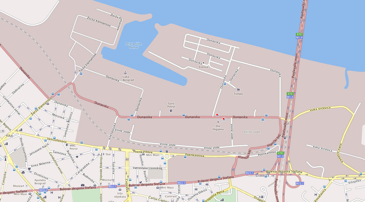 Mapa Beograda Viline Vode Superjoden